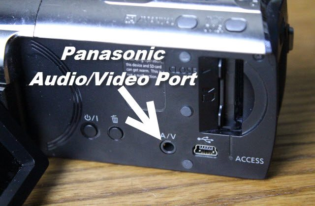 Panasonic video camera audio video jack