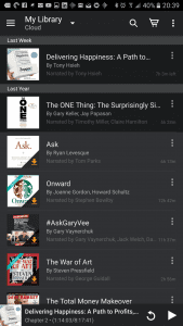 My audible library